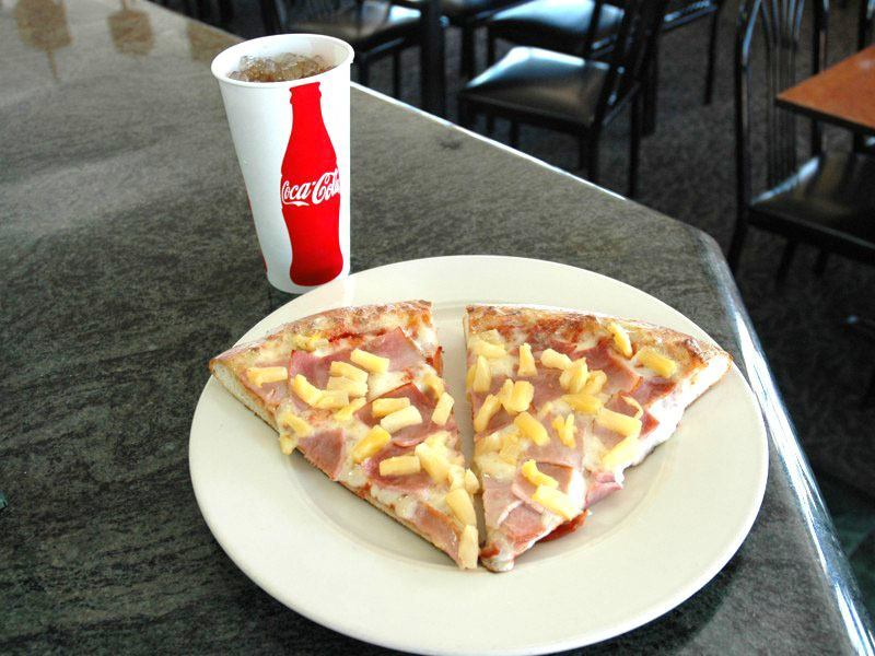 Pizza Slice and Soda Lunch Special